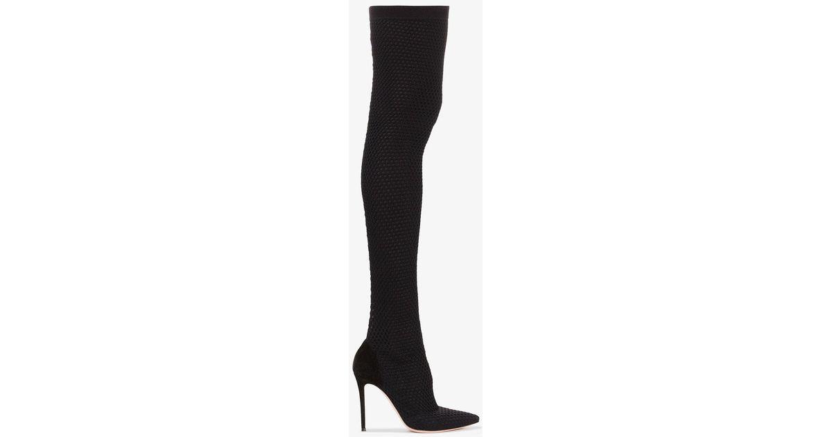 Gianvito Rossi Black vox cuissard 105 knee high boot Acheter En Ligne Avec Paypal La Vente En Ligne Acheter Visite Pas Cher acheter Best-seller 2WNmD2Zv