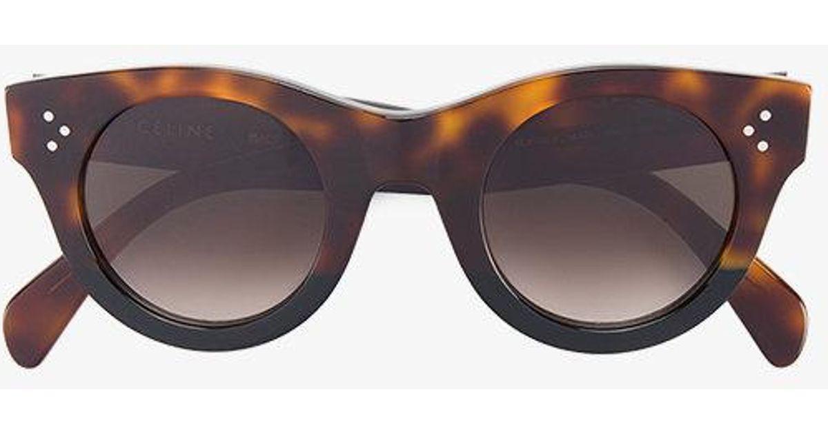 Opprinnelig Céline Tortoiseshell Baby Audrey Sunglasses in Brown - Lyst IF-31