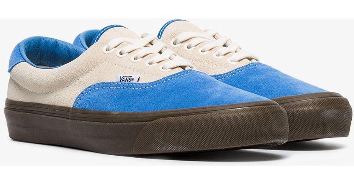 99764a7ac4 Lyst - Vans Vault 59 Blue Suede Skate Sneakers in Blue for Men