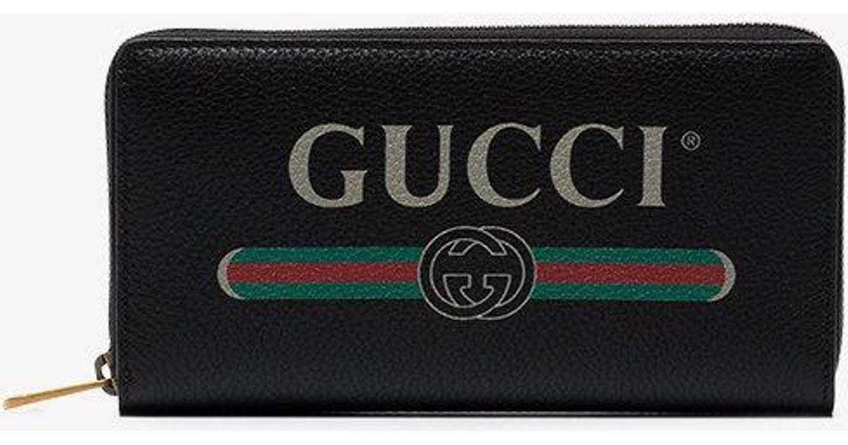 02b796623864 Lyst - Gucci Gg Zip Wallet in Black