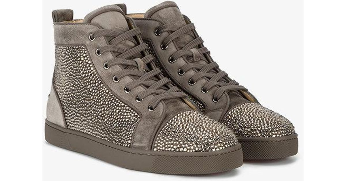 bf5d01b257d7 Lyst - Christian Louboutin Louis Crystal Sneakers in Gray for Men