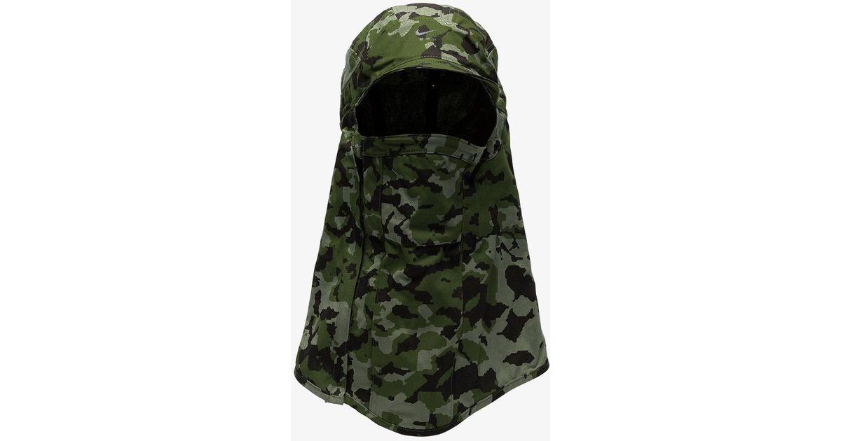 c32e16201 Nike - Green X Mmw Camouflage Cap Balaclava for Men - Lyst