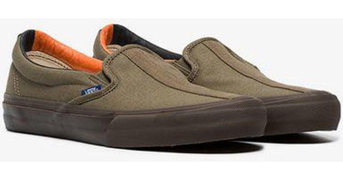 8a834097e4 Vans Green Vault Cotton Slip On Sneakers for Men - Lyst