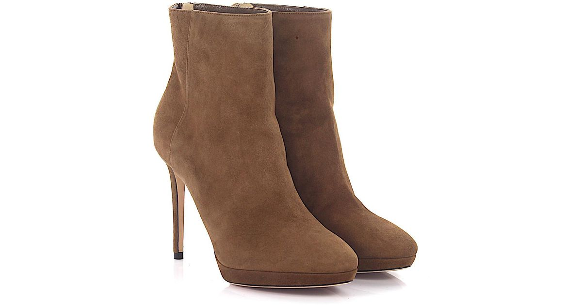 Jimmy choo Boots Harvey 100 plateau suede brown Shopping Discounts Online Buy Cheap Release Dates ihCdQ