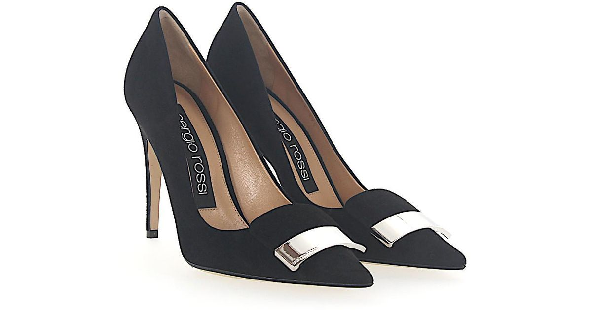 Sergio Rossi Pumps A78951 suede gold plated