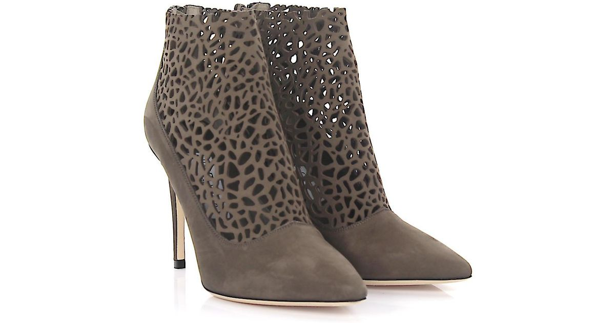Jimmy choo Ankle Boots Maurice 100 nubuck dark design-perforated VugW2kuAQm