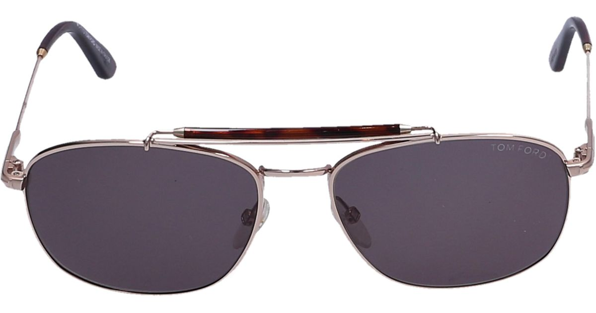 b8e3c16fed Lyst - Tom Ford Sunglasses Aviator 339 Acetate Metal Brown Gold in Gray for  Men