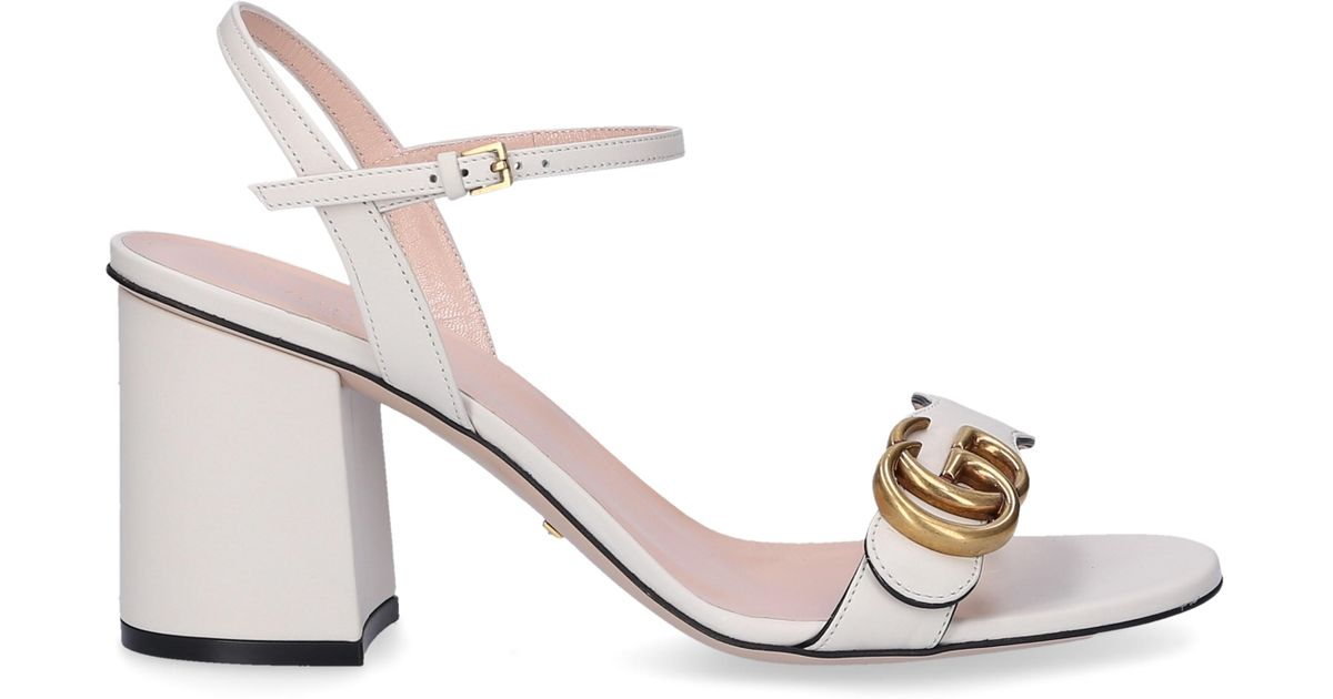 08d48b469 Gucci Strappy Sandals A3n00 in White - Lyst