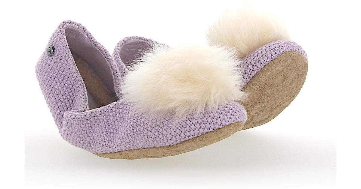 Foldable Ballerina Loafer ANDI purple pompom UGG qFLYKe