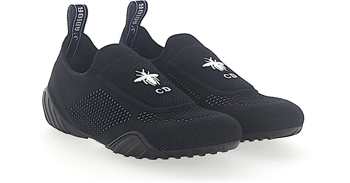 Sneakers Slip On D-FENCE mesh black CD logo Dior 4aMm3b1m