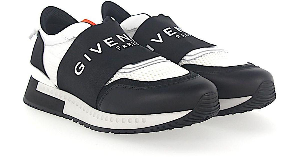Slip-On Sneakers Nylon mesh white leather black Givenchy cfM5Om0m