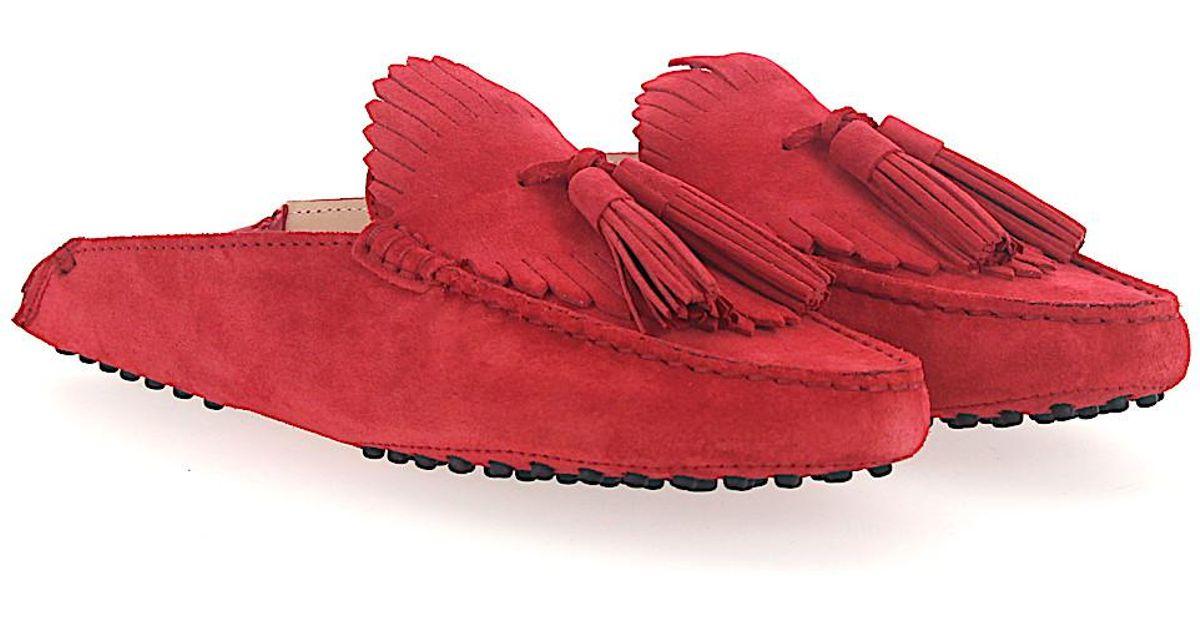 Tod's Slip On Shoes G0X070 suede Fringe mvjOsU