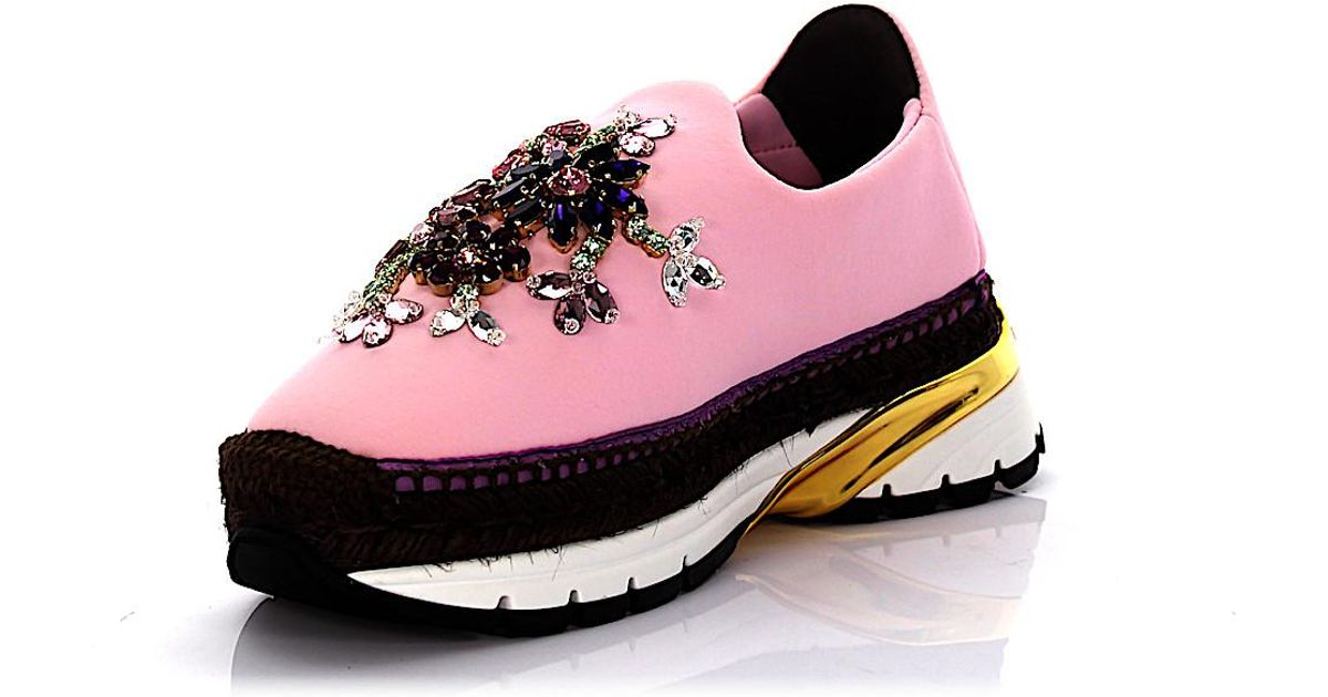 the best attitude bd63f 41882 dolce-gabbana-rose-Sneakers-Espadrillas-Neopren-Rose-Bast-Brown-Jewelry-Embellished.jpeg