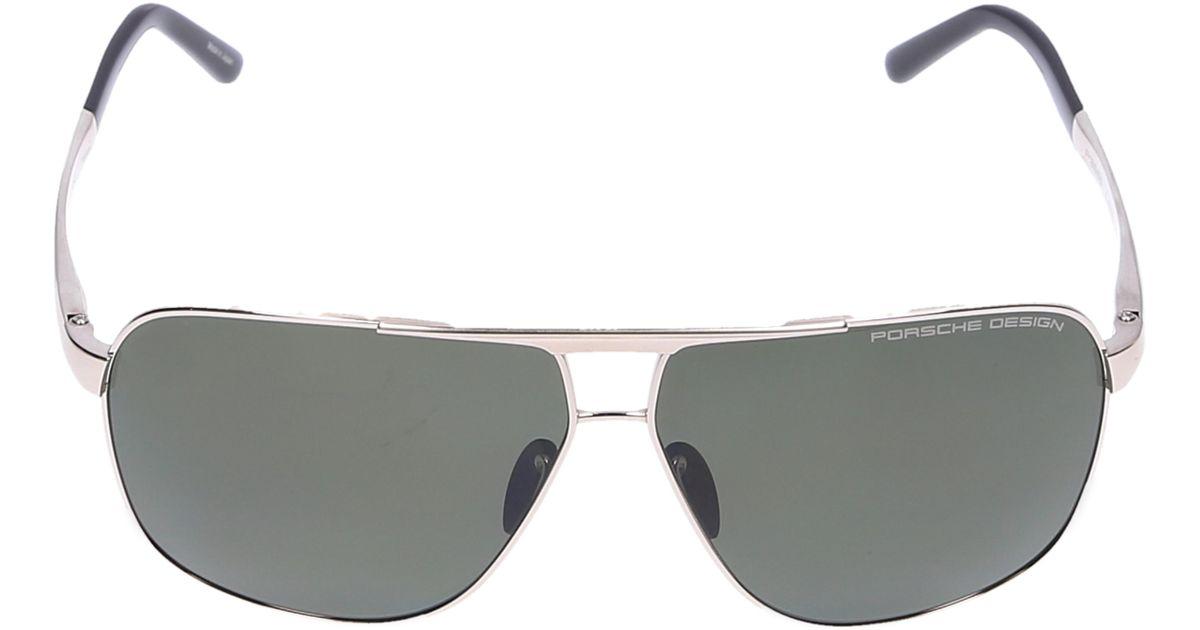 e27005f16b8 Porsche Design Sunglasses Aviator 8665 Titanium Gold Black in Metallic for  Men - Lyst