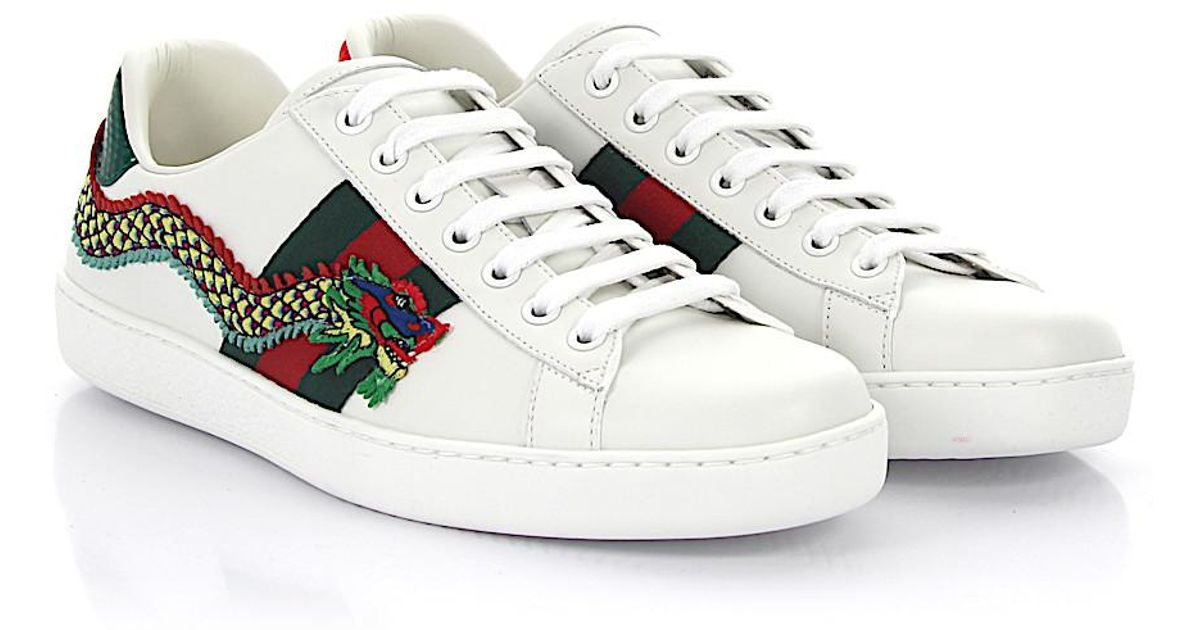 B8TmfzWqXk Sneakers A38G0 leather woven detail dragon emrobidery mHZpKhdJ
