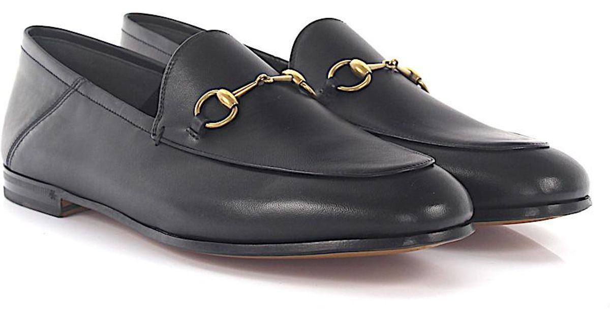 4dc2667a7327 Gucci Flat Shoes in Black - Lyst