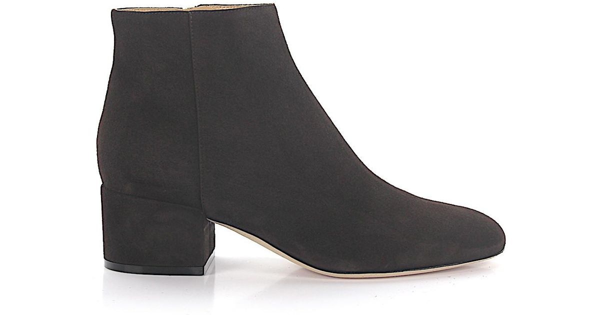 604d67e42112 Lyst - Sergio Rossi Ankle Boots Suede Brown in Brown