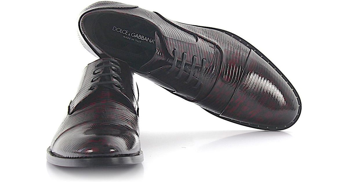 new product 8554c c920b dolce-gabbana-black-Derby-Lace-up-Shoes -Leather-Black-Red-Snake-Embossment.jpeg