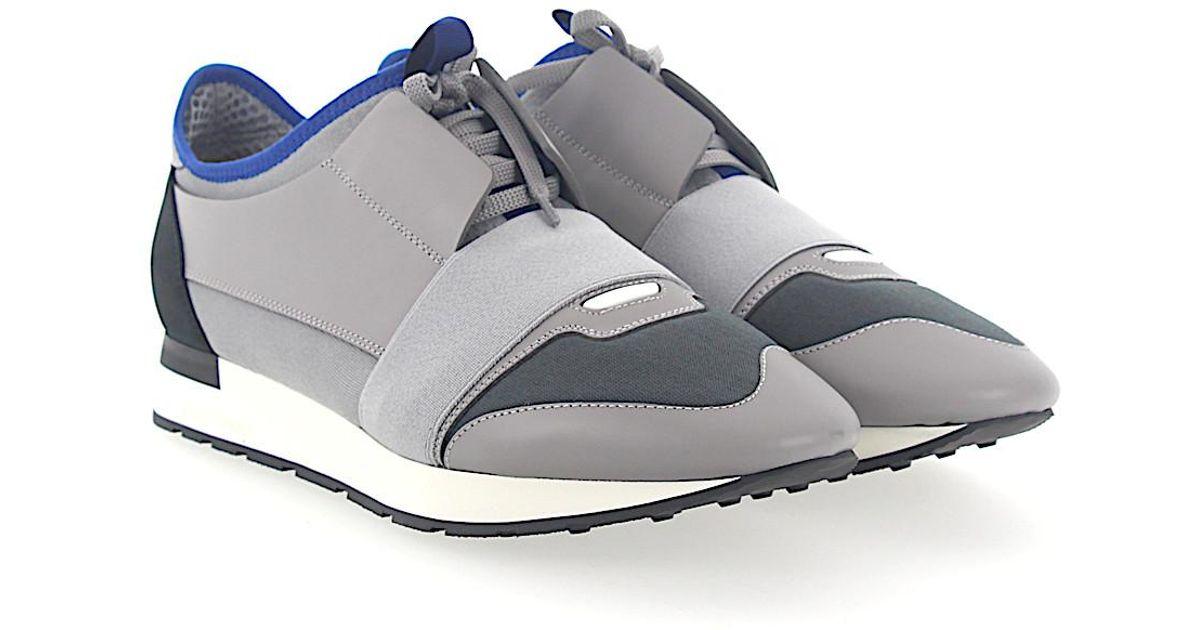 Sneaker RACE RUNNER nubuck textile Logo grey Balenciaga RsiV0roW0U