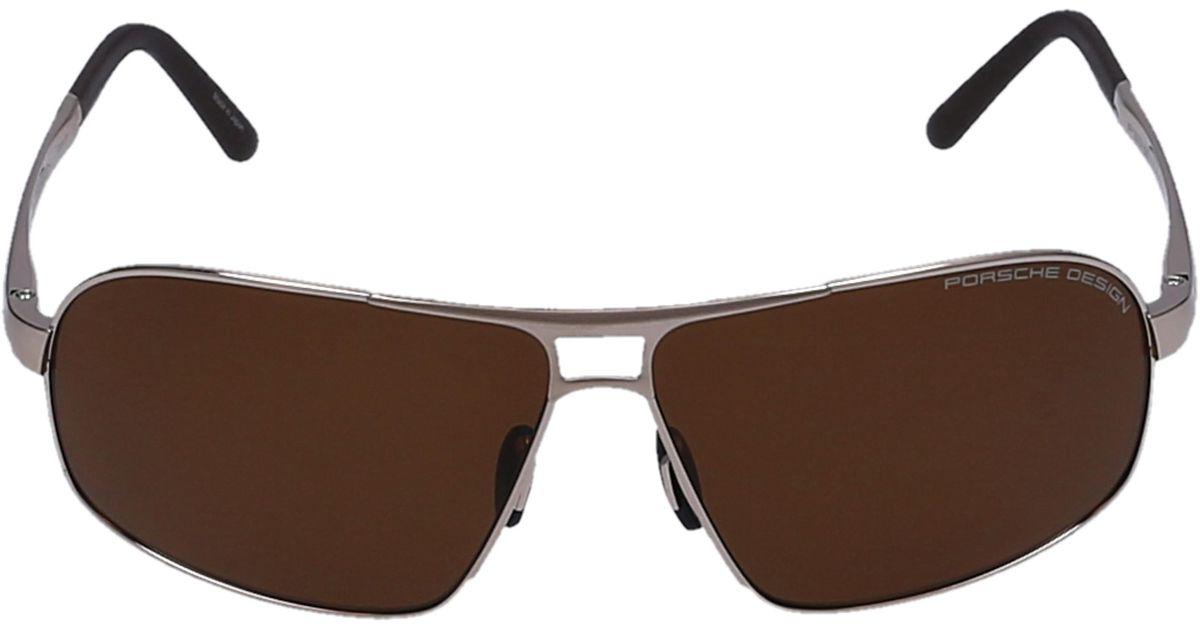 02a3b79851e Lyst - Porsche Design Sunglasses Aviator 8542 Titan Acetate Gold in Brown  for Men