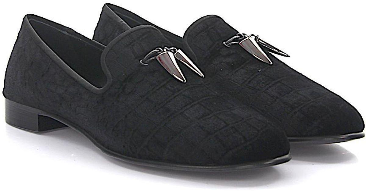 Slippers Spacey velvet black Giuseppe Zanotti Munmy