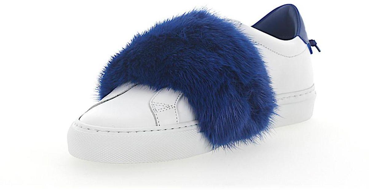 De Bleu Cuir Fourrure En Baskets Vison Dans Lyst Givenchy Blanc Y2Hbe9IWED