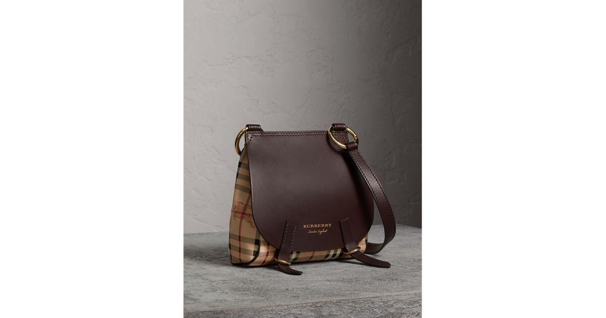 3061cc25007a Lyst - Burberry The Bridle Crossbody Bag In Haymarket Check - Women ...