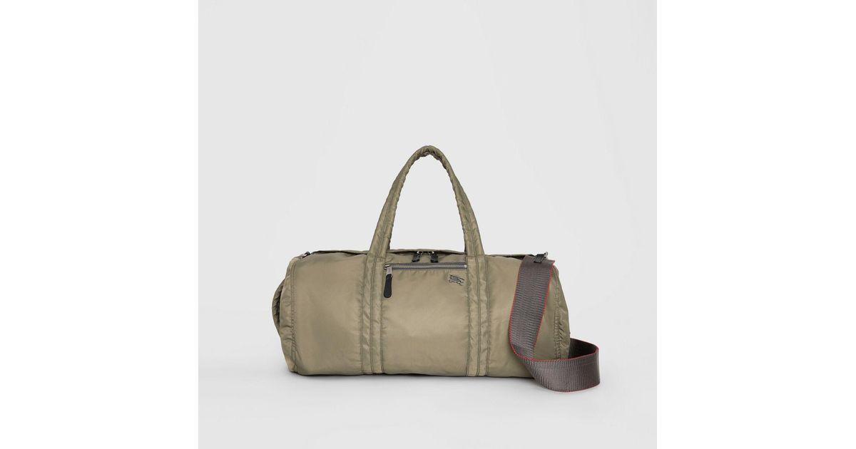 Lyst - Burberry Large Ekd Aviator Nylon And Leather Barrel Bag for Men a7edee689839b