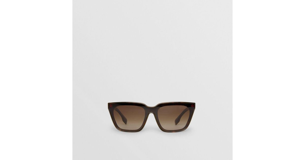 6e309064e54 Lyst - Burberry Square Frame Shield Sunglasses