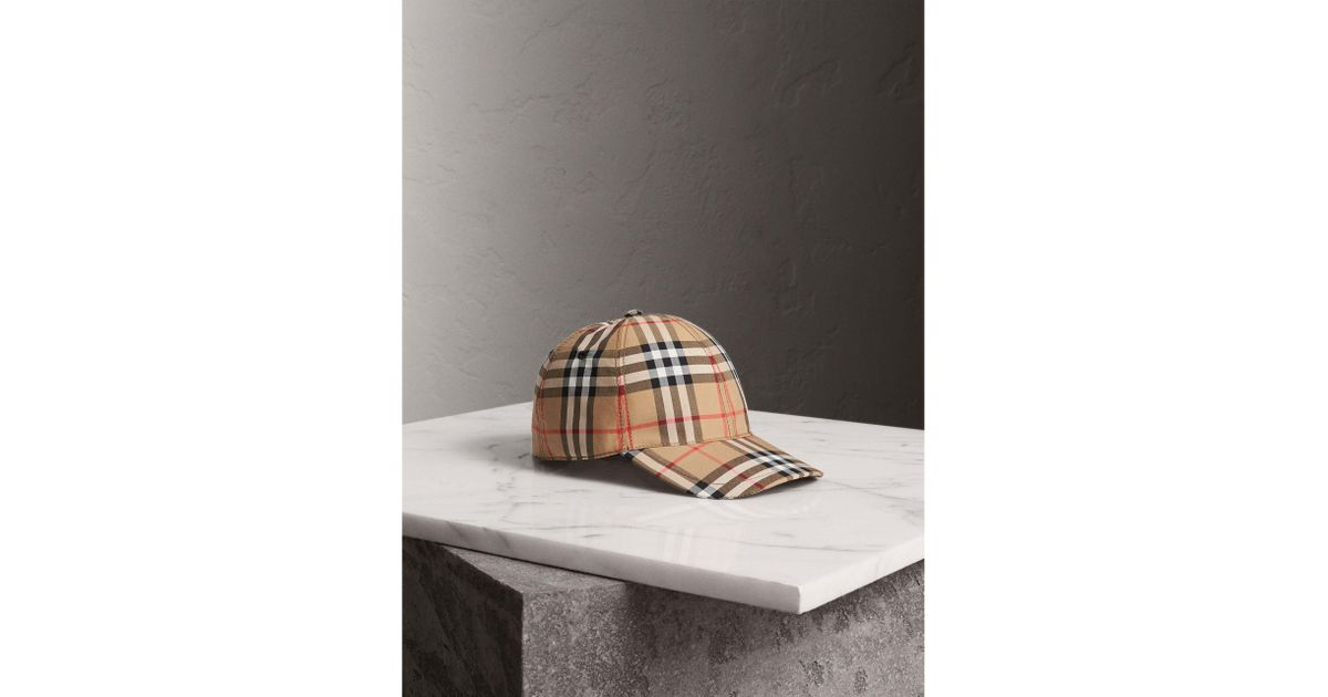 Lyst - Burberry Vintage Check Baseball Cap 9123235cac4