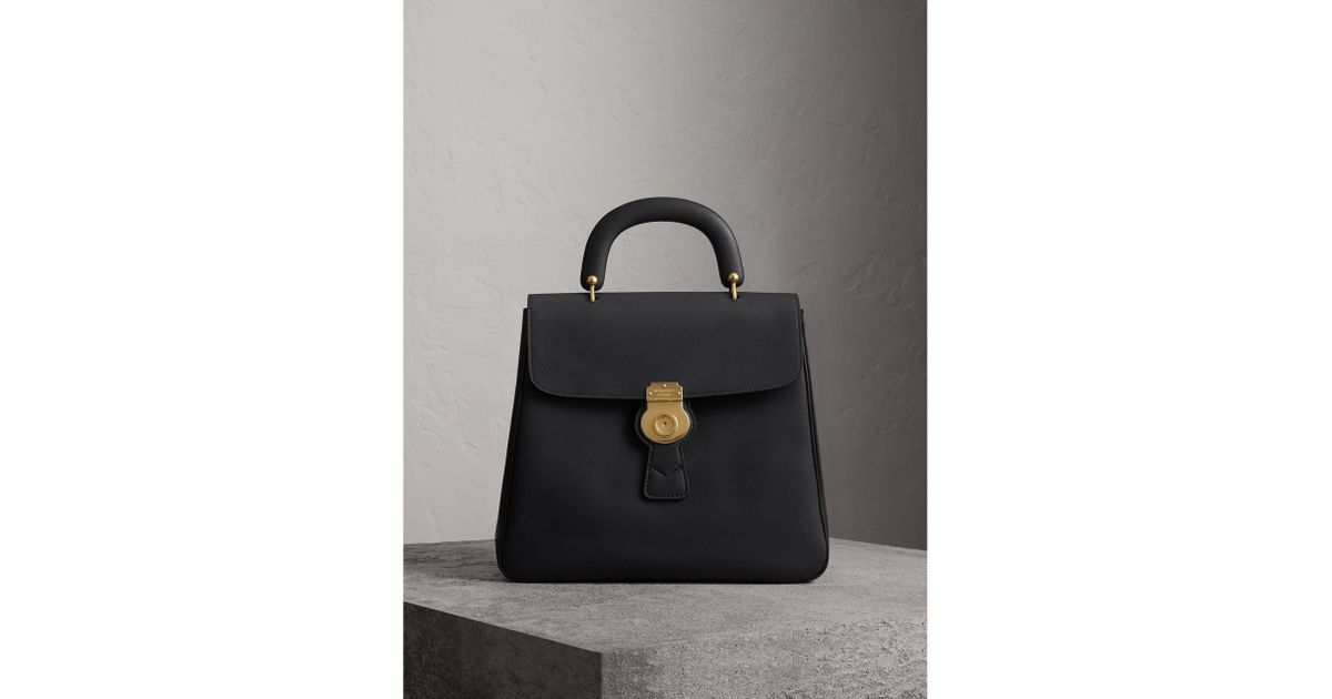 f5f4580bdf8 Burberry The Large Dk88 Top Handle Bag in Black - Lyst