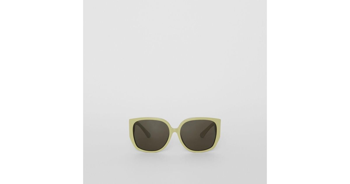 b211fee66265 Lyst - Burberry Oversized Butterfly Frame Sunglasses