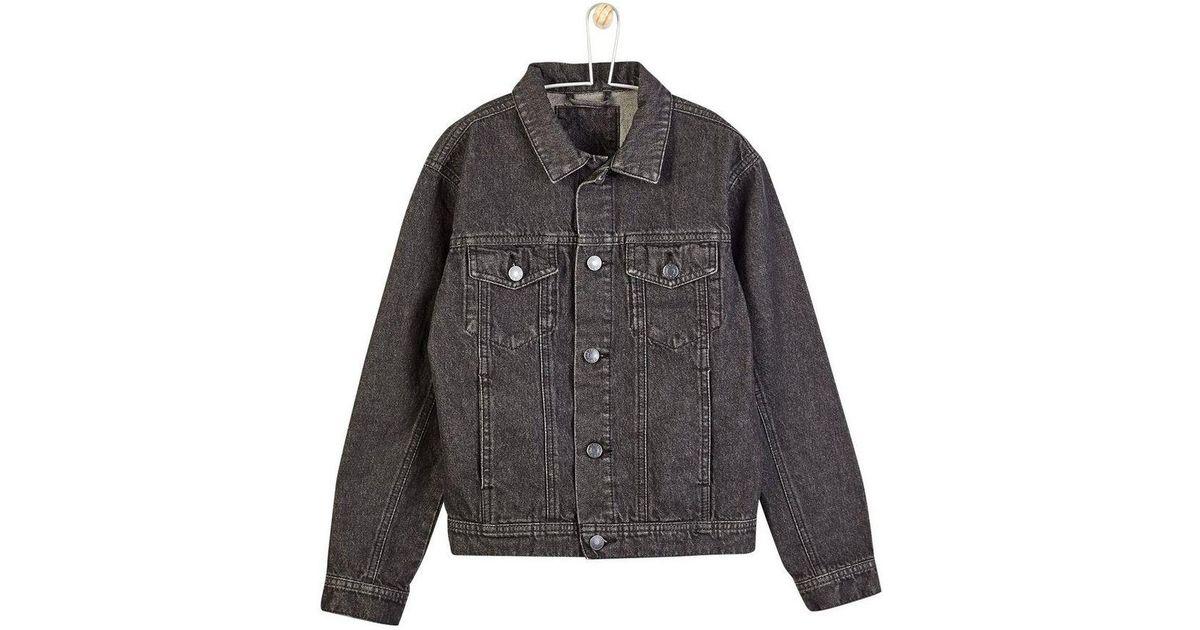 Burton Boys Washed Black Denim Jacket 5 12 Years In Black For Men