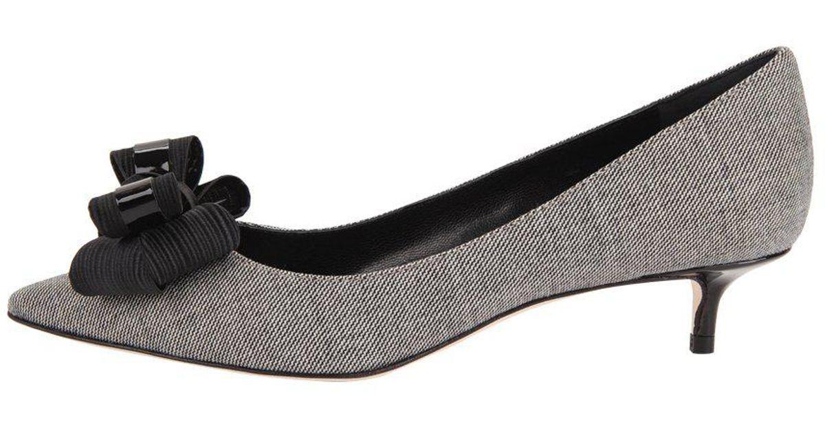 3e5b754df6c Lyst - Butter Shoes Bentley Kitten Heel Chatter Fabric