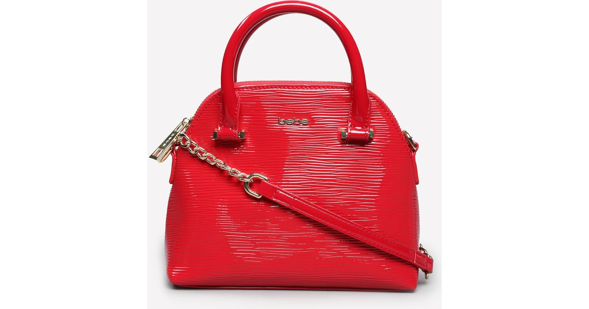 4ab0dda2d2 Bebe Susan Shine Crossbody Bag in Red - Lyst