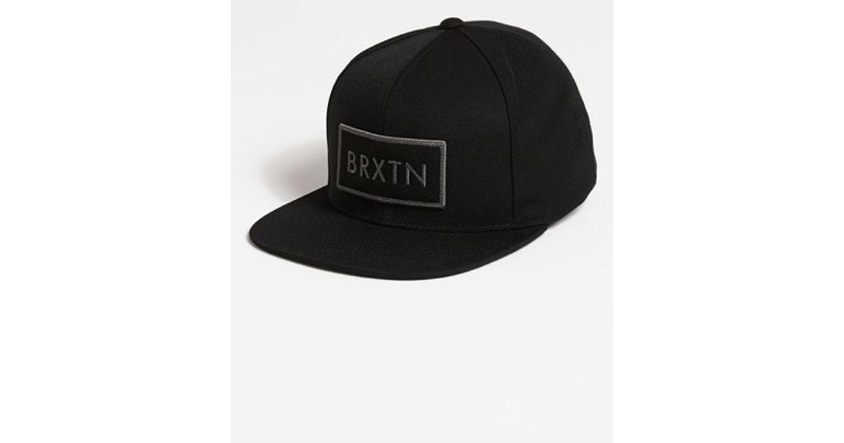 a56fcb634df Lyst - Brixton  rift  Snapback Baseball Cap in Black for Men