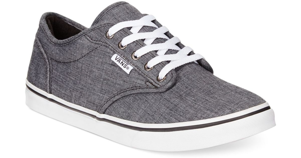 Lyst - Vans Women s Atwood Low Lace-up Sneakers in Gray d46a025704