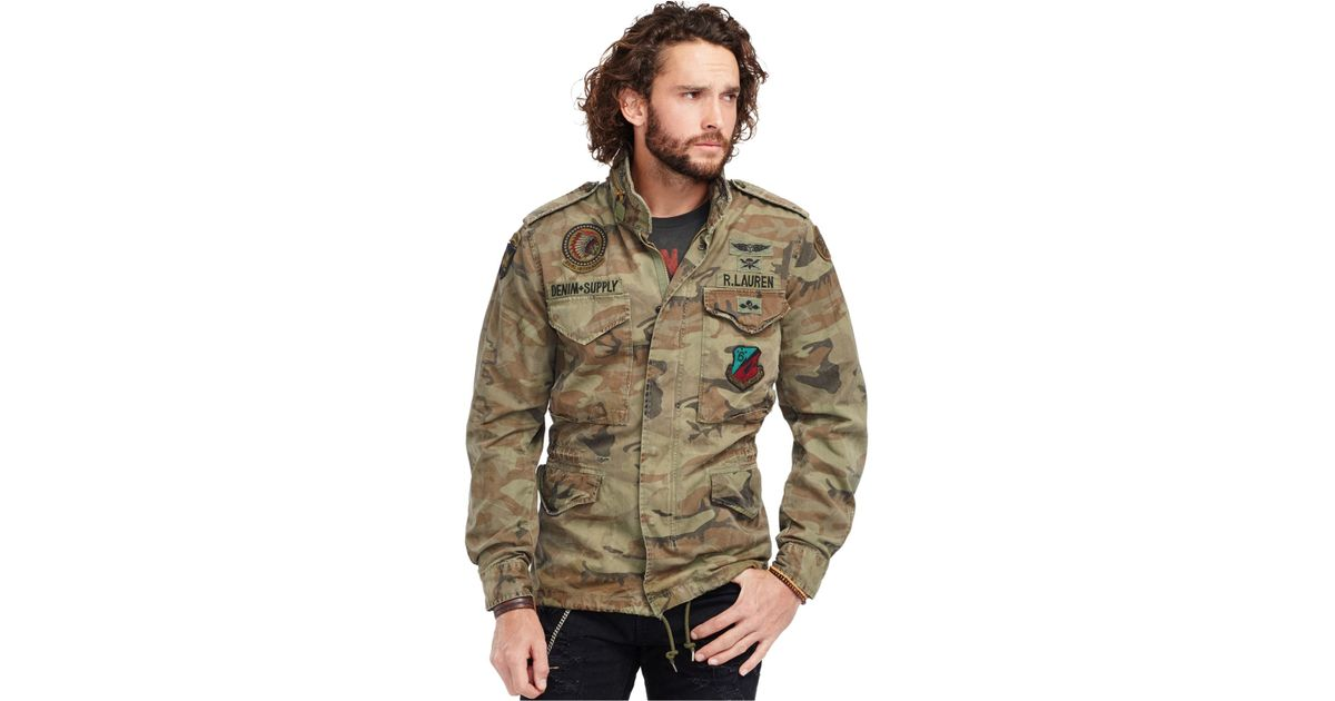 a2186b3185d01 Denim & Supply Ralph Lauren Camouflage Canvas Field Jacket for Men - Lyst