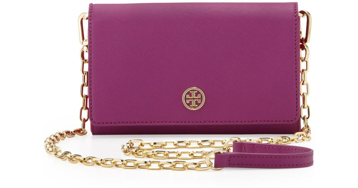 7320f8b19aa new style tory burch ella nylon tote bag in purple lyst 841f3 7774c; get lyst  tory burch robinson wallet on a chain royal fuchsia in purple cbef5 12d64