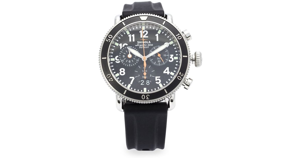 61d5f350a Shinola 'Runwell Sport Chrono 41Mm' Watch in Black for Men - Lyst