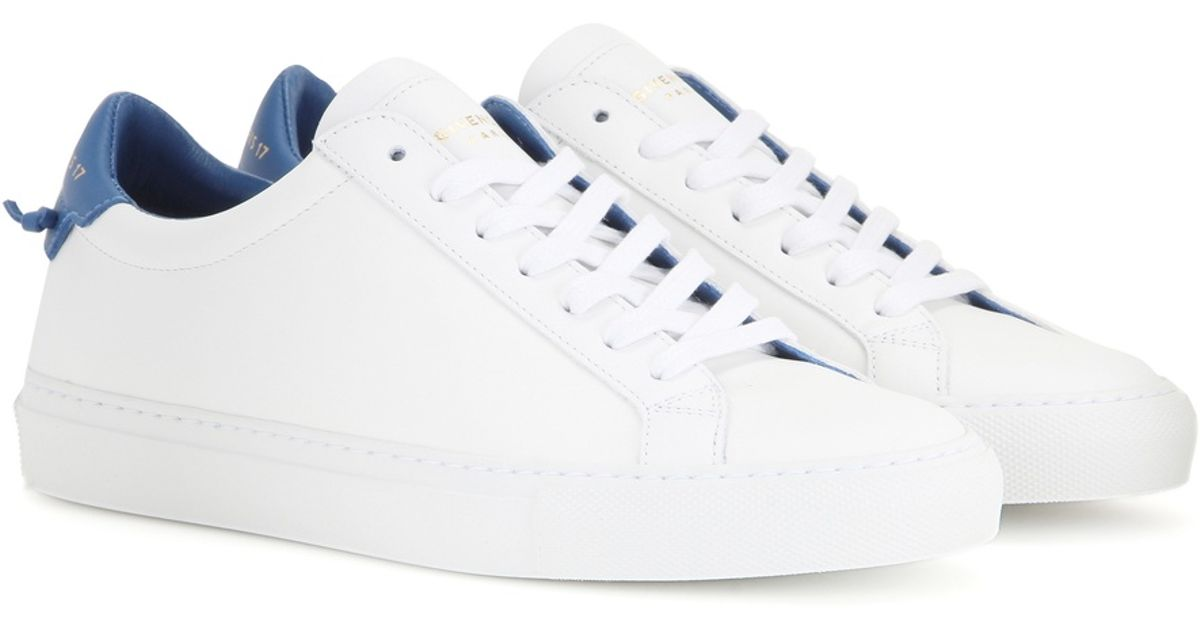 d81221275aa Lyst - Givenchy Urban Knots Leather Sneakers in White