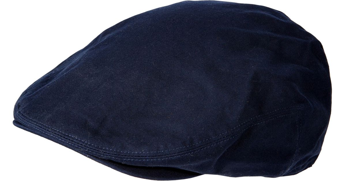 af4247c6 ... lyst polo ralph lauren cotton stretch estate driving cap in french navy  in blue for men