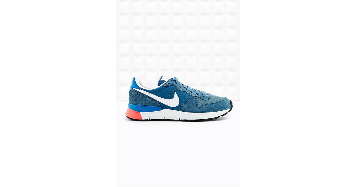 hot sale online 31ac6 36304 ... Nike Lunar Internationalist Leather Trainers in Navy in Blue for Men -  Lyst ...