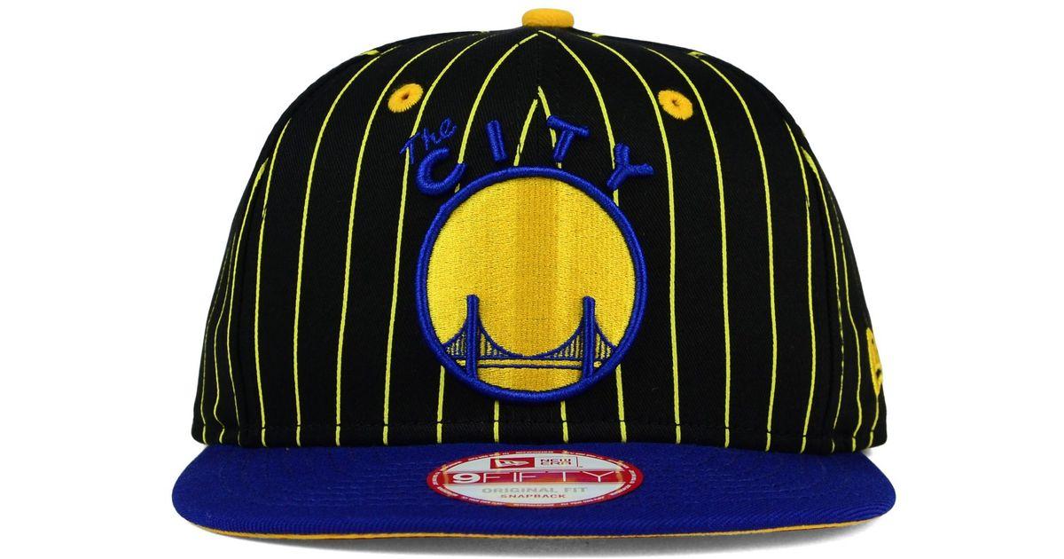 Lyst - KTZ Golden State Warriors Vintage Pinstripe 9fifty Snapback Cap in  Black for Men e072f82128f