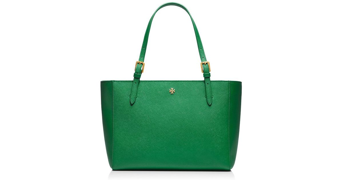 4b1231a4c2c Lyst - Tory Burch York Small Buckle Tote in Green