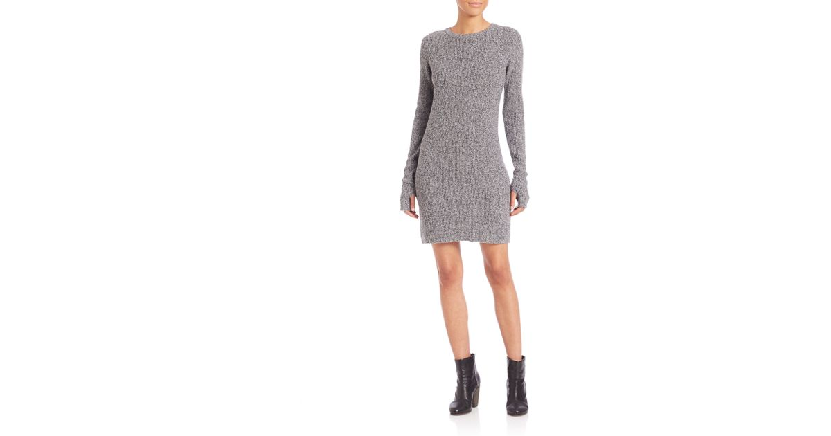Current Elliott Easy Wool Amp Cashmere Sweater Dress In Gray