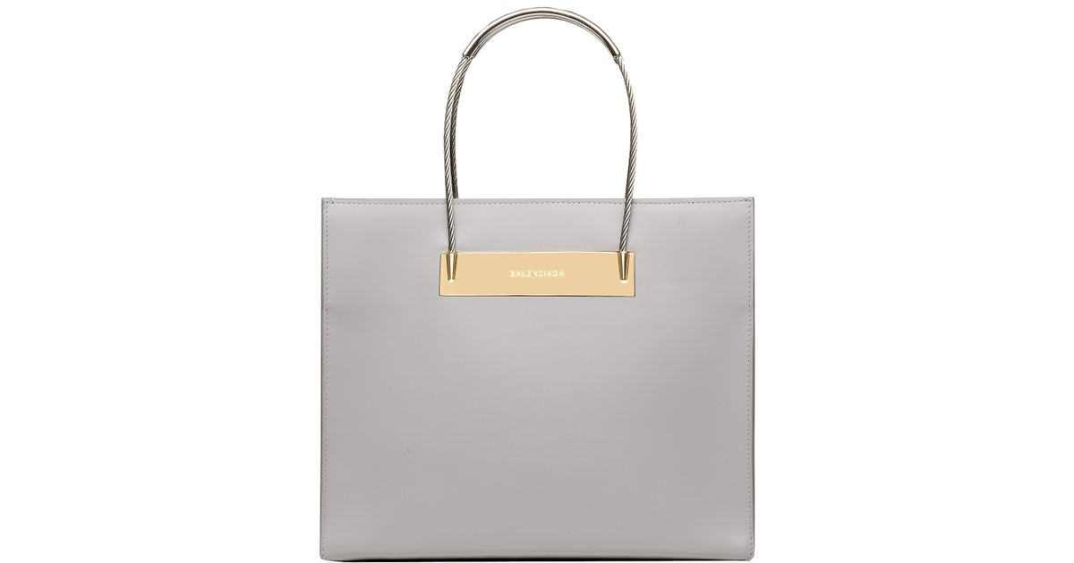 4195070320 Lyst - Balenciaga Cable Shopper S in Gray