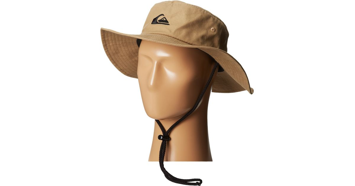 Lyst - Quiksilver Bushmaster Sun Protection Hat in Natural c1aa61bdd5ca