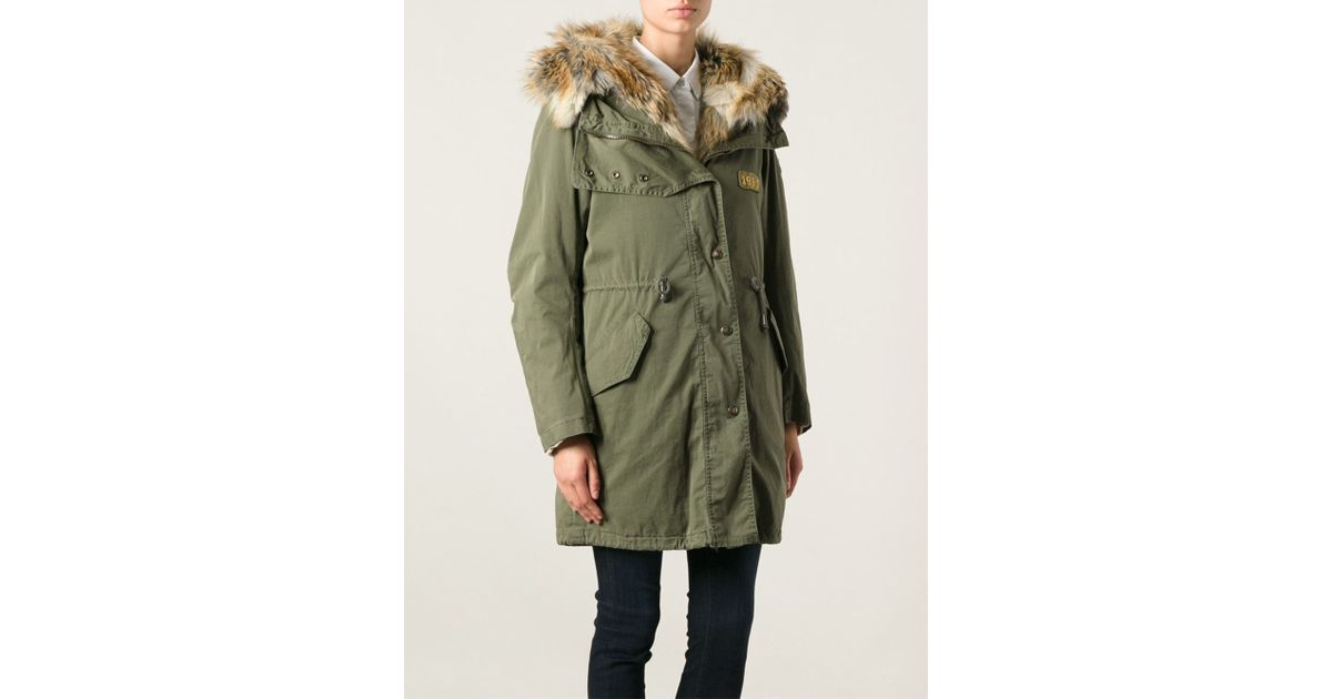 History repeats Padded Parka in Green | Lyst
