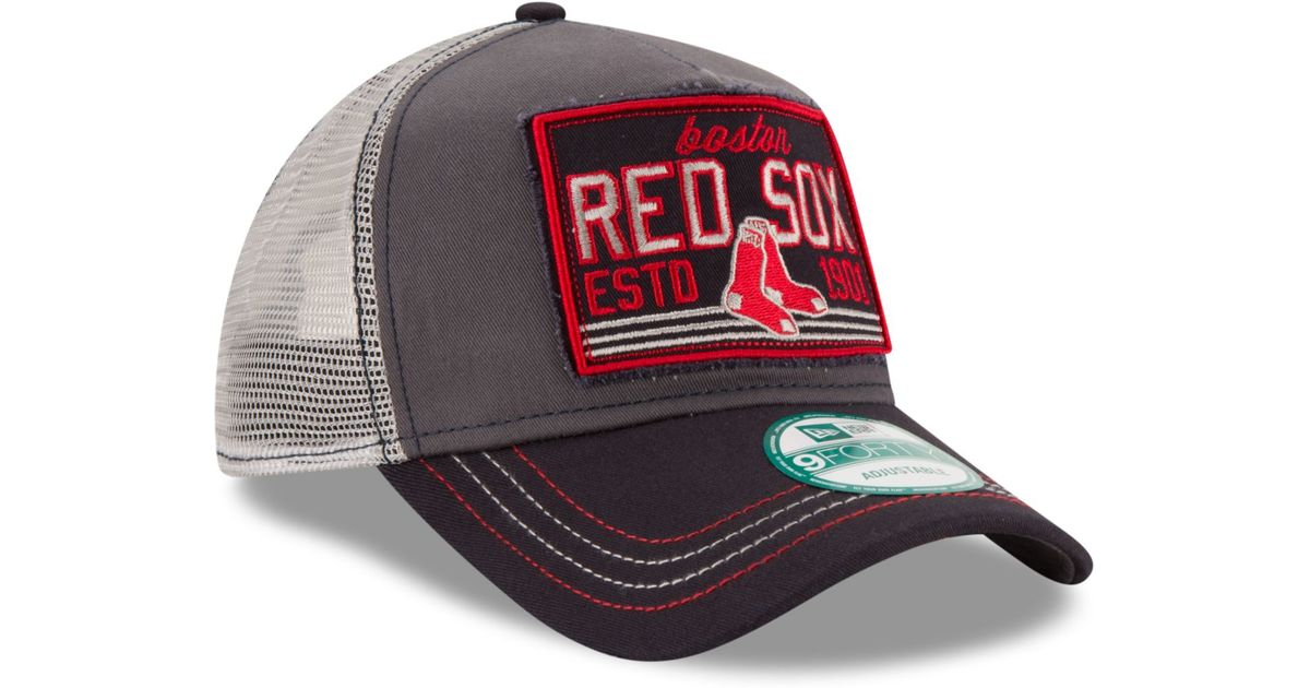 Lyst - KTZ Boston Red Sox Trucker Tear 9forty Snapback Cap in Gray for Men dedb1366ce6